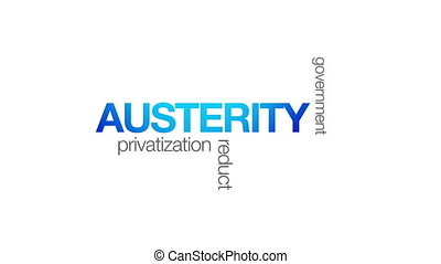 Austerity - Animated Austerity word illustration. Kinetic...