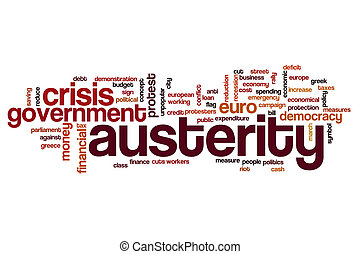 Austerity word cloud concept