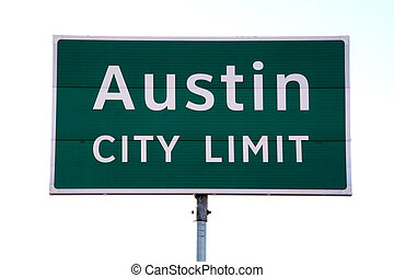 Austin City Limit Sign - A Austin City Limit sign that you...