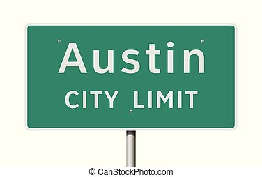 Austin City Limits road sign - Vector illustration of the...