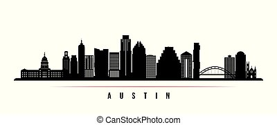 Austin city skyline horizontal banner.