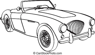 Austin Healy 3000 - Vector drawing of an Austin Healy 3000