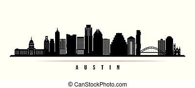 austin, perfil de ciudad, horizontal, banner.