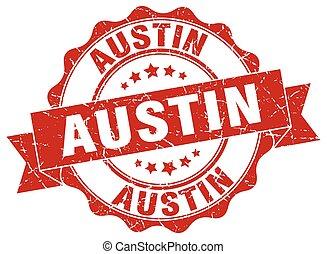 Austin round ribbon seal