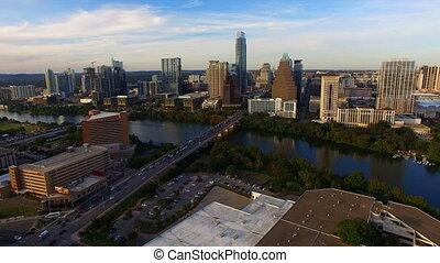 Austin Texas Downtown City Skyline Urban Architecture Panoramic