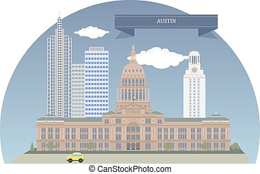 Austin. Texas, USA - Austin. Capital of the US state of...