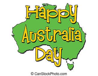 austrália, dia, feliz