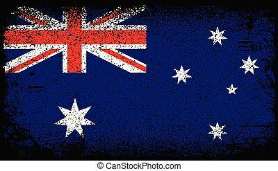 austrália, grunge, bandeira