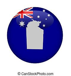 austrália, mapa, botão, território, norte