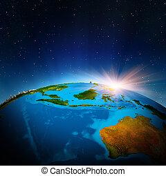 austrália, oceania, espaço