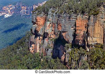 austrália, paisagem, sul, grose, novo, penhascos, vale,...