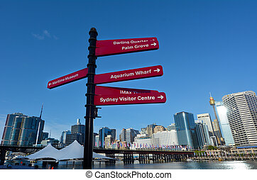 austrália, porto, sydney, novo, cityscape, gales, querido,...