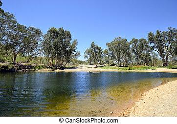 austrália, território, outback, norte