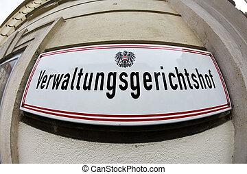 austríaco, viena, tribunal, administrativo