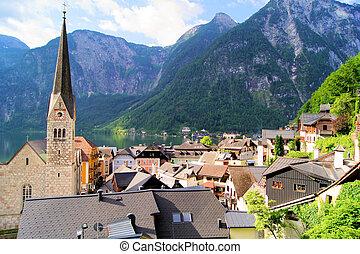 austríaco, vila, alpes
