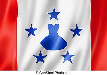 Austral Islands flag, French Polynesia