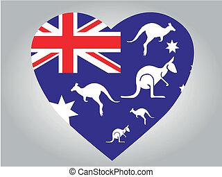 australië, hart