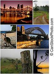 australië, montage