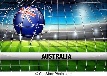 australië, net, voetbal