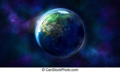 australië, ruimte, het tonen, realistisch, azie, aarde, oceania.