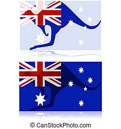 australiër, kangoeroe
