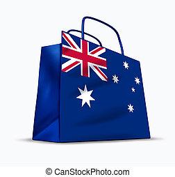 australiër, shoppen