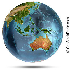 Australia. 3d rendering