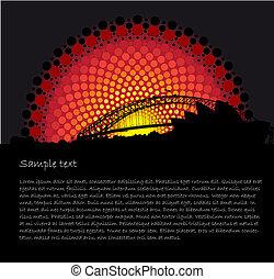 Australia Aboriginal art stylized vector background -...