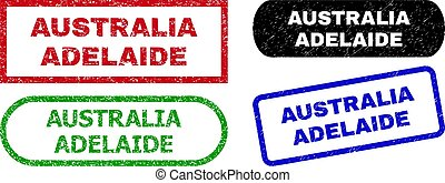 AUSTRALIA ADELAIDE Rectangle Watermarks with Corroded Surface