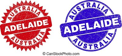 AUSTRALIA ADELAIDE Rounded and Rosette Watermarks with Unclean Surface