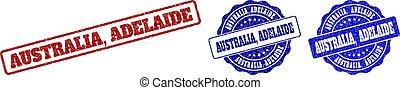AUSTRALIA, ADELAIDE Scratched Stamp Seals