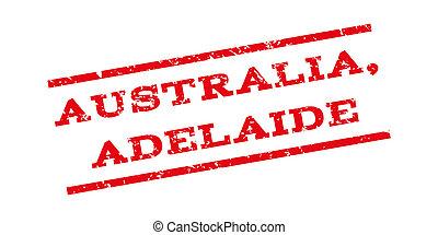 australia, adelaide, watermark, briefmarke