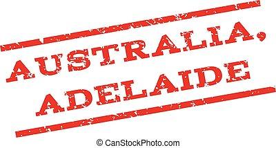 Australia Adelaide Watermark Stamp