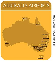 Australia Airports Map