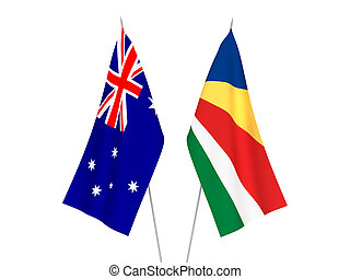 Australia and Seychelles flags - National fabric flags of ...
