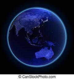 australia, asia