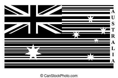 Australia barcode flag
