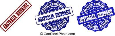 AUSTRALIA, BRISBANE Scratched Stamp Seals