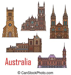 Australia buildings, city architecture landmarks