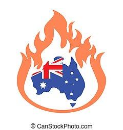 australia bushfire-03 - Australia bush fires vector ...