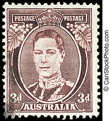 AUSTRALIA - CIRCA 1938 King George VI - AUSTRALIA - CIRCA...
