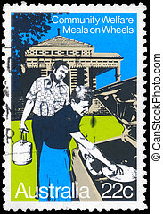 AUSTRALIA - CIRCA 1980 Meals on Wheels