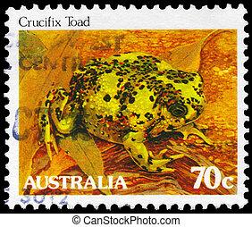 AUSTRALIA - CIRCA 1981 Crucifix Toad