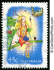 stamp - AUSTRALIA - CIRCA 2002: stamp printed by Australia,...