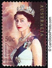 Queen - AUSTRALIA - CIRCA 2003: stamp printed by Australia, ...