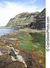 australia, construido, utilizar, siglo, newcastle, -, océano, 19, trabajo, bogie, condenar, agujero, piscina