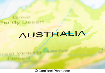 australia country on map