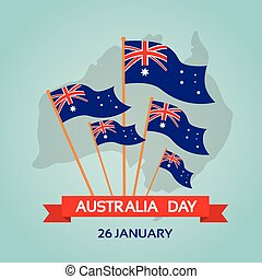 Australia Day National Flag Flat