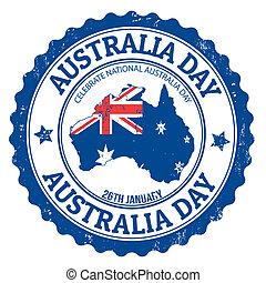 Australia day stamp - Grunge Australia day rubber stamp on ...