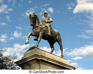 australia, dominio, vii, -, melbourne, edward, estatua, ...